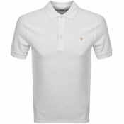 Farah Vintage Short Sleeved Polo T Shirt White